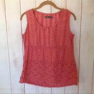 5 for $20 ❤️ Prana Coral Boho Style Tank TOp Shirt